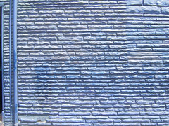 Blue DSCF1771-01 (Kaleem) Tags: 2005 blue light shadow toronto stone wall bricks pipes unfound textures april kaleem