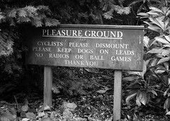 Pleasure Ground ? (publicenergy) Tags: dogs sign ball cyclists please you ground games thank irony keep pleasure radios leads dismount clumberpark
