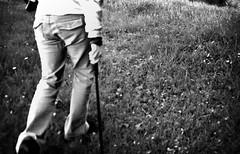 treking (world_of_noise) Tags: becky pentaxmesuper walks hands machete bw fakelomo