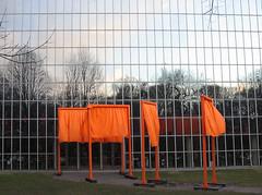 (Nad) Tags: centralpark gates christo orange cloth breeze reflection glass art sculpture trees