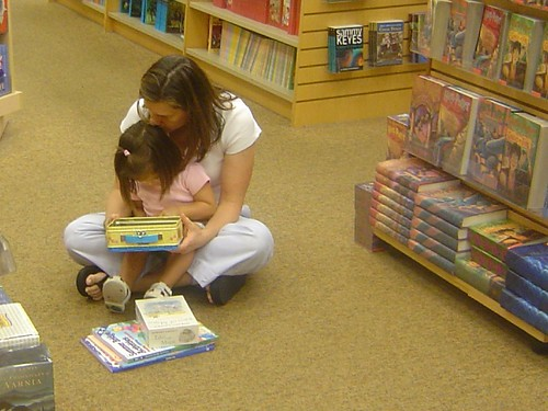 Reading in bookshop together USA