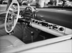 Classic Cars in Barrie (photojunkie) Tags: blackandwhite classic cars lubitel barrie steeringwheel