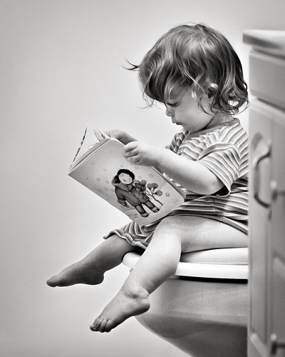 Bathroom reading by thejbird, on Flickr