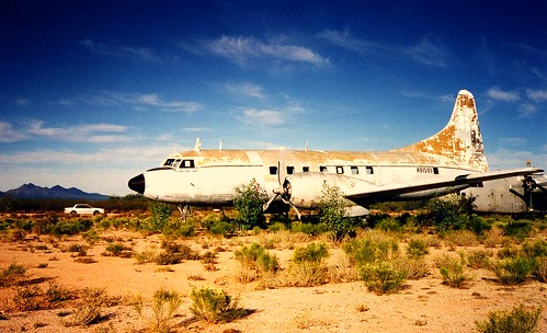 Convair 240 at Pinal Airpark, Avra Valley