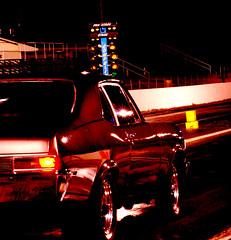 american muscle in red (fubuki) Tags: red favorite car night start drag intense south fast northcarolina racing arrogant southern brazen dragracing brash competitive piedmontdragway