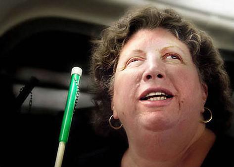 Blind Woman on CalTrain