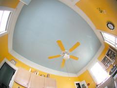 Kitchen Ceiling (Editor B) Tags: blue kitchen yellow fan louisiana neworleans ceiling fisheye ourhouse ceilingfan
