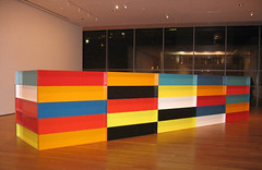 Rectangles in Technicolor (hbomb1947 the turnstile-jumper) Tags: nyc newyorkcity sculpture newyork color colour art 2004 colors topv111 museum night 510fav manhattan modernart moma museumofmodernart artmuseum museums november2004 rectangles judd momany donaldjudd nymoma