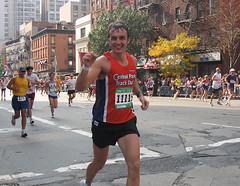Runner's high (hbomb1947 the turnstile-jumper) Tags: running runners nyc newyork newyorkcity marathon newyorkmarathon nycmarathon athletes manhattan sports urban city autumn fall street pavement uppereastside nycpb topv111 10021 2003 november2003 topv333