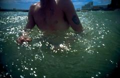 hot day on folkestone sands (lomokev) Tags: blue sea summer sky sun water seaside lomo lca lomography lomolca lomograph folkestone slide0082 deletetag file:name=slide0082