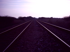 040331-07 (Rand0m) Tags: cornwall stmichaelsway railway tracks perspective sunset england andybadge