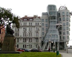 Prague, beside Vltava River (Barrybar) Tags: prague czechrepublic architecture fredandginger dancingbuilding 1025fav