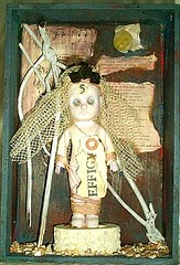 Effigy (moonwild) Tags: collage assemblage mixedmedia dada artdoll foundart dadaart lauriedorrell moonwild