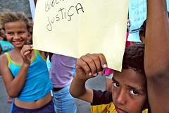 justice ( Tatiana Cardeal) Tags: brazil brasil kids protest photojournalism police violence tatianacardeal favela politic brsil eos100 globalpoverty urbancondition