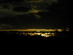 Last rays (GustavoG) Tags: seattle bridge sunset sun sunlight cars clouds rays enlightedbridge