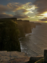 Cliffs of Moher at evening (SteveFE) Tags: ocean ireland light seascape skyscape evening interestingness bravo clare dramatic cliffs atlantic moher countyclare