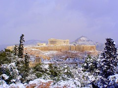 Snow on the Acropolis (RobW_) Tags: winter snow 2004 topf25 beautiful wow day 500v20f village 123 athens used greece 2550fav 50100fav excellent february acropolis lunar feb2004 elsewhere continuum philopappus exceptional lykavitos interestingness111 interestingness152 interestingness98 i500 lovephotography 250v10f 13feb2004 impresssive explore28mar2005