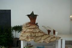 A vegetable dress, 2002 (artandscience) Tags: dress feathers peacockfeathers fungus digital dc290 amsterdam