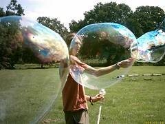 a bubbly day (miss menace) Tags: bubbles trees robin favme 510fav bubble