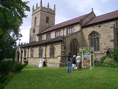 St. James Church Barlborough (barlborough) Tags: flowers england church derbyshire well casio exilim chesterfield stjames exz3 welldressing flowerfestival barlborough scoopt