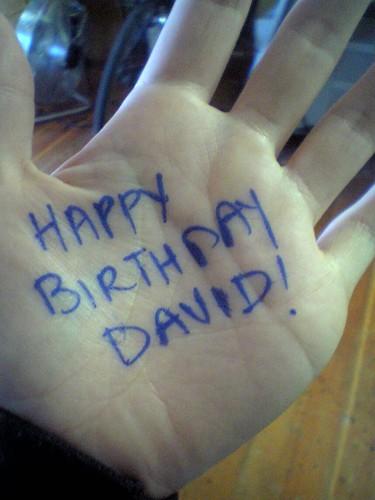 Happy Birthday David!
