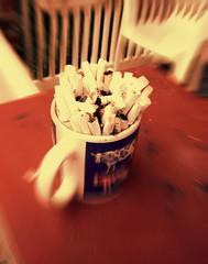 Butts (KimTheWolf) Tags: mountpleasant washington dc cigarettes blur filter tccomp015