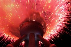 china fire  firework to welcome the leaders of the apec (avant1997) Tags: firework shanghai china apec