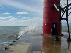 South Haven Breaker (joeldinda) Tags: blue red black promotion catchycolors lighthouses lakemichigan greatlakes michiganfavorites 15favs breaker southhaven joeldinda c50 michiganlighthouse michiganlighthouses