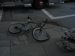 Bicycle after collision, Scott and Haight