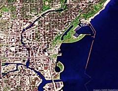 Milwaukee, Wisconsin (dansays) Tags: memorymap milwaukee wisconsin googlemaps satellite