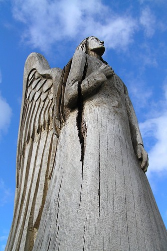 wood carving - angel