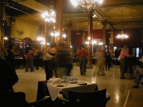 Dancing Tango at the Confiteria Ideal, Buenos Aires