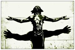 the secret about prayer... (fubuki) Tags: bw favorite statue noir spirit prayer religion listening accepting