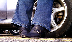 Between the Lines (camera1) Tags: shoes feet car tire mycooljeans psfk chicago illinois usa