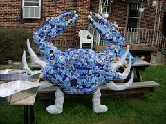 two chelipeds! (dogfaceboy) Tags: mosaic crab baltimore acrabslife crabtown