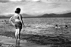 the unknown ( Tatiana Cardeal) Tags: ocean sea brazil bw woman film nature topf25 brasil tatianacardeal galleria brsil antonina centurys timeofinnocence flickysnominationcategoryblackandwhitephotography