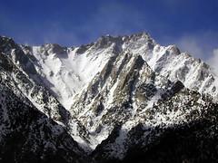 Lone Pine Peak (Dawn Endico) Tags: california mountain snow mountains nature wow landscape geotagged day wikipedia sierranevada lonepine geo:lat=36596436 geo:lon=118167996