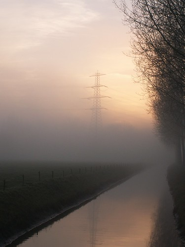 Nijmegen in de mist, december 2004