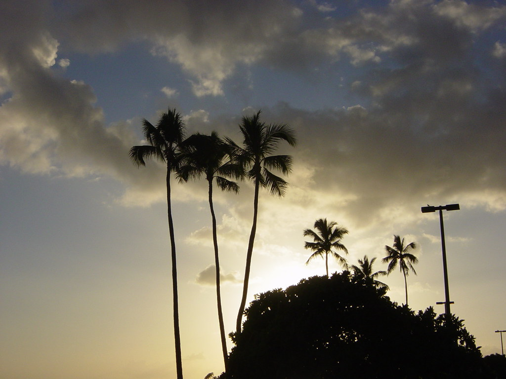 Sunset, Ala Moana Beach Park