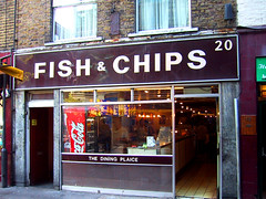 Fish and chips...and Coca Cola (capitan-patata) Tags: london film londres cocacola fishandchips fishchips josemanuelholguin