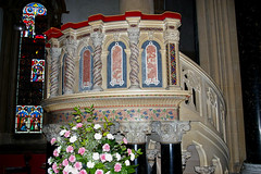 Wilton Church pulpit (Whipper_snapper) Tags: uk england wiltshire wilton italianate wilts stmaryandstnicholas