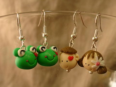 Clay Bead Earrings (jazmyn) Tags: earrings handmadeearrings beadedjewelry claybeads