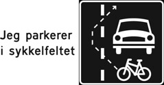 Klistremerke/løpeseddel til hensynsløse bilførere (mrjorgen) Tags: design flyer sticker parkering klistremerke trafikksikkerhet forbudt stickerdesign sykkelfelt bilister syklister løpeseddel sykkelfeltet idioterbakrattet