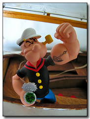 Popeye (geozilla) Tags: urban television monster comics movie toy toys tv comic designer cartoon vinyl statues kidrobot plastic comicbook animation sciencefiction animated creature geo makebelieve popeye omni   geozilla  omnimonster