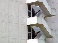 Treppe Auf, Treppe Ab (irmel71) Tags: urban white house stairs concrete schweiz switzerland outdoor fenster details zurich architectural clean zrich less beton tristesse fassade anonym