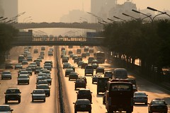 Evening Traffic (China Chas) Tags: china road cars wow haze beijing 2006 vehicles pollution 70210mm guesswherebeijing bjunguessed
