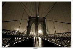 Another Rainy Day (Arnold Pouteau's) Tags: nyc newyorkcity newyork night manhattan brooklynbridge abigfave