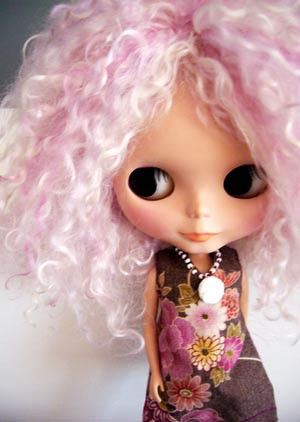 Mirin, customised mohair blythe by cutiehoney.
