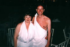 1st Toga Party (SunCat) Tags: vacation woman me friend girlfriend couple kevin all bbw spouse jamaica wife debbie sweetheart lover mate companion togaparty hedonism negril soulmate suncat braless togas superclubs confidante so hedonismii hedoii