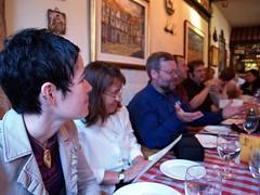 Clowns to the left of me (steena) Tags: dinner restaurant group goddessspiral labodega vandigicam seawallrunner marvintheparanoidandroid gailontheweb icathing jmv nicoledextras vandigicamptd3 woaksie
